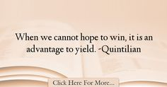 Quintilian Quotes About Hope - 36642
