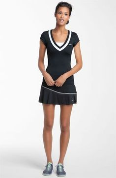 Nike Baseline Flirty Tennis Skirt in Black - Lyst Netball Dresses, Tennis Outfits, Tennis Wear, Tennis Dress, Tennis Clothes, Sport Outfits, Womens Tennis Skirts, Squash Outfits, High Fashion