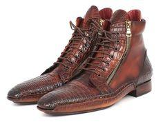 7133ebf906e Paul Parkman Genuine Crocodile   Calfskin Handmade Zipper Boots  (ID 88CPK92). Mode HommeChaussures ...