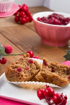 Leftover Cranberry Sauce Vegan GF DF Muffins - I made these with regular milk and subbed avocado oil for the grapeseed, they have a great texture and taste and freeze and reheat wonderfully. A definite keeper!