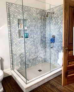 Our friends at outfitted this beautiful shower with our Japanese Godai tile in Pearl! Bathroom Renos, Bathroom Interior, Small Bathroom, Master Bathroom, Glam House, Master Bath Remodel, Condo Living, Farmhouse Kitchen Decor, Bathroom Inspiration