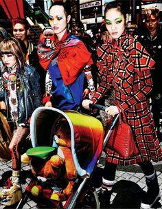 Chiharu Okunugi by Mario Testino for Vogue Japan November 2014 - Inspiration by Color
