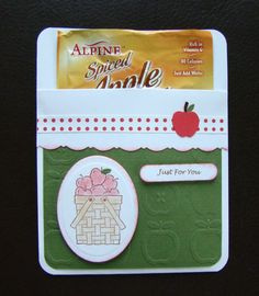 Apple Cider Pocket Card Teacher