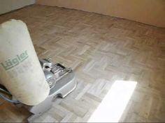Renowacja parkietu - cyklinowanie lakierowanie szlifowanie układanie parkiet podłogi mozaika - YouTube