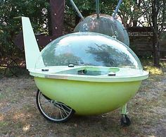 "Atomic bubble bike...so cute remind me of something ""Gazoo"" would have used! lol"