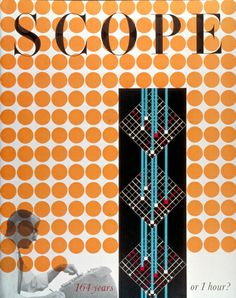 Inspirational - Scope magazine cover by Will Burtin in 1957 Modern Graphic Design, Graphic Design Inspiration, Graphic Designers, Fashion Inspiration, Design Graphique, Cover Design, Cover Art, Vintage Designs, Illustrations Posters