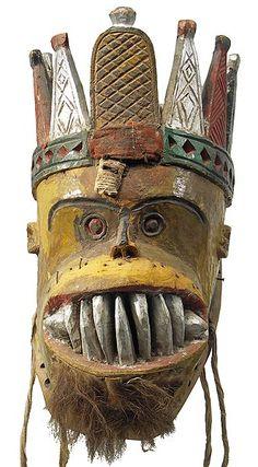 "Urhobo Mask 2, Nigeria, mamà miedo! OO"""