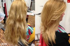 Little refresh for our customer with cipria blonde color and some hair style.