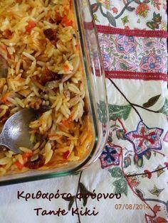 Καλή σας μέρα! Ο Αύγουστος είναι ήδη μια πραγματικότητα και είμαστε πια μιαν αναπνοή από τη μεγάλη γιορτή της Παναγίας! Έχοντας, λοιπόν, κατά νου ότι πάρα πολλοί ανάμεσά μας νηστεύουν θα μιλήσουμε σήμ Greek Dinners, Sour Foods, Vegetarian Recipes, Cooking Recipes, Greek Pasta, Greek Cooking, Greek Recipes, Different Recipes, Pasta Dishes