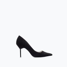 Image 1 of HIGH HEEL LEATHER COURT SHOE WITH POINTED TOE from Zara