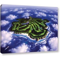 Jerry Lofaro Paradise Island Gallery-Wrapped Canvas, Size: 24 x 32, Green