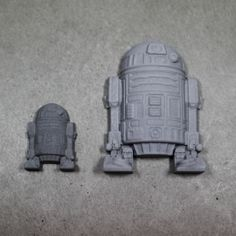 Star Wars magnets made out of concrete. - Star Wars Magnete aus Beton.
