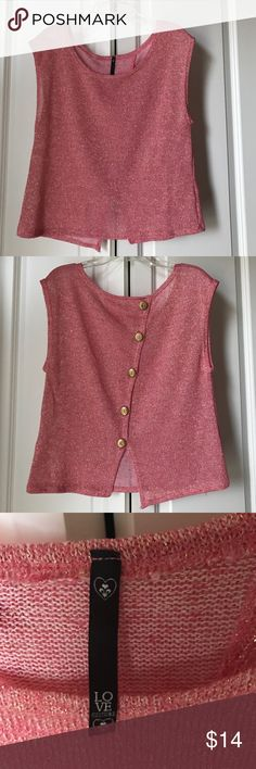 Pink and Gold top Pink and gold top with buttons down back Love Culture Tops Blouses