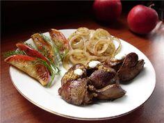 Куриная печень в сметанно - горчичном соусе : Вторые блюда