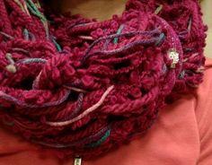 Love fuchsia! Arm knitting