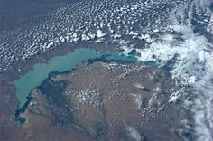 Photos from International Space Station. Lake Balkhash in southeastern Kazakhstan