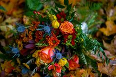 Fall Bridal Bouquet, October 2016 by Something Blue
