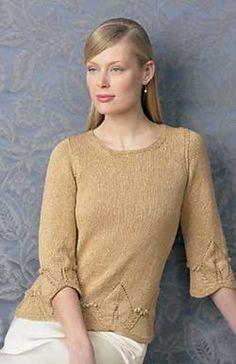 Ravelry: Evening Leaf Tunic pattern by Patons