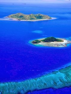 Crystal Blue Ocean at Fiji Islands #Beaches