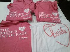 Custom Bachelorette party shirts from BridalPartyTees.com!