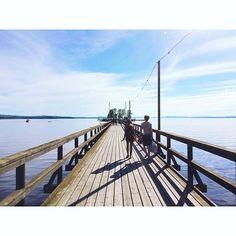 """628 Meter führt dieser Steg (""""Långbryggan"""") in den Siljansee und ist damit der längste Holzsteg Schwedens, womöglich sogar weltweit.…"""