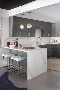 Luxury Kitchen Design, Kitchen Room Design, Home Decor Kitchen, Interior Design Kitchen, Kitchen Furniture, Home Kitchens, Kitchen Ideas, Kitchen Designs, Interior Modern