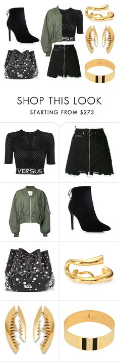 """""""HUNG UP"""" by laura-melissa-cortes on Polyvore featuring Versus, County Of Milan, Clane, Charles David, Karl Lagerfeld, Charlotte Chesnais, Kasun y CA&LOU"""