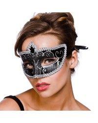 Black & Silver Eye Mask