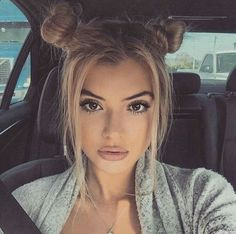 Super cute bun hairstyle