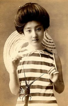 Japanese swimsuit from the Meiji era.