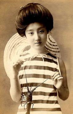 Japan, swimsuit from the Meiji era