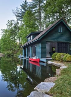 There is something so wonderful about boathouses and we sure do get to see such beautiful ones on the amazing Three Lakes Chain of Lakes. Wether you are a boathouse owner or just a boathouse lover … room ideas uk Lake Cabins, Cabins And Cottages, Lakeside Living, Outdoor Living, Lake Cottage, Cabins In The Woods, Cabin On The Lake, Photos Of The Week, Log Homes