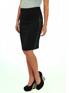 Pumpkin Patch - skirts - ponti  panel skirt - W3MT70003 - black - xs to xlarge
