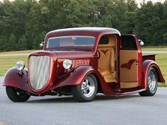 1936 Ford Pickup Classic Pickup Trucks, Old Pickup Trucks, Ford Classic Cars, Hot Rod Trucks, Cool Trucks, Cool Cars, Big Trucks, Pickup Camper, Lifted Trucks