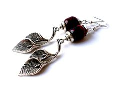 Free shipping.Gemstone earrings.Red and by Jewelry2Heart on Etsy