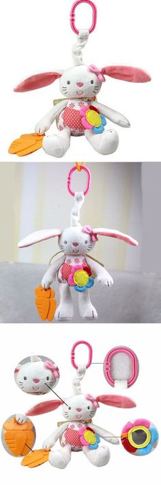 New Baby Toy Soft Plush Rabbit Baby Rattle Ring Bell Crib Bed Hanging Animal Toy Free Shipping