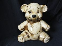Teddy Bear Honey Bear Cookie Jar Vintage