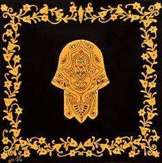 HAMSA  hamsa hand evil eyeIsrael Art spiritual wall by TalShamaim, $50.00