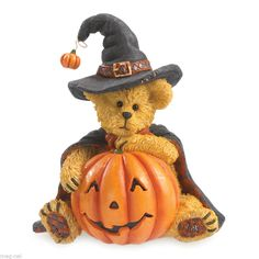 Boyds Bears Figurine * Tabitha Boobeary * Halloween New 2014 Witch Pumpkin #Boyds #Halloween