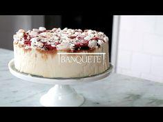 Banquete » Torta de Sorvete com suspiros, caramelo e framboesa