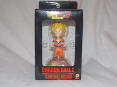 "Dragon Ball Z Swing Head Super Saiyan Goku 4.5"" Figure Popy RARE 2004 Japan #Popy"