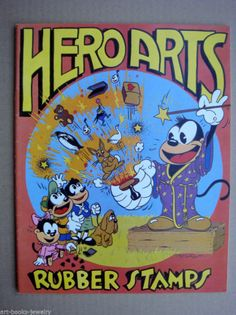 HERO ARTS RUBBER STAMPS CATALOG 1983 - GREAT VISUALS - NEVER READ - RARE !! !!