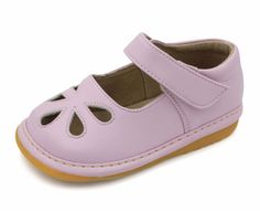 Squeaky Shoes | Light Pink Flower Punch Toddler Girl Mary Jane