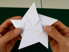 5 pointed origami star step 3d
