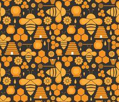 Busy Like a Bee fabric by creative_cyclamen on Spoonflower - custom fabric