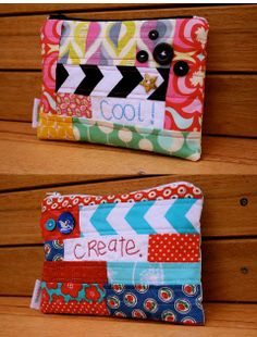 make it perfect: Patchwork and Stitch words Pouches