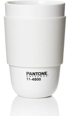 Pantone Universe Classic Cup with Silicone Band, Blanc de Blanc Best Price