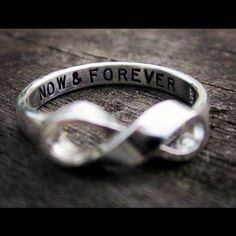 infinity ring- cute alternative to traditional wedding band
