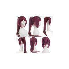 Free! Matsuoka Gou Cosplay Wig ($32) ❤ liked on Polyvore featuring beauty products, haircare, hair styling tools, hair, accessories and wig