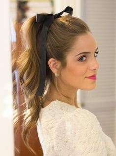 Create a sweet and beautiful baby doll look by tying a ribbon around your ponytail! For everything that you need for your hair, visit Walgreens.com!